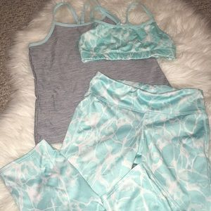 Blue Water themed Fitness Set